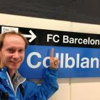 auf zum Spiel in Barcelona